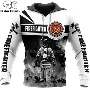 PLstar Cosmos FireFighter Firemen Hero Harajuku casual Tracksuit 3D Print Hoodie Sweatshirt Jacket Mens Women skull pullover-13 201019