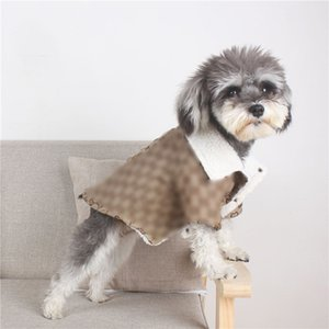 Carta Jacquard Thicken inverno Designer Bichon Coats completa Chihuahua Jackets quente ao ar livre Teddy Luxo Outerwears Vestuário