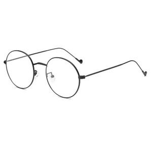 Yeni Diopter 1,56 Aspherical Radyasyondan Korunma Mercek H5 ile Miyop Optik Gözlük Unisex Vintage Yuvarlak Çerçeve Glasses Geldi