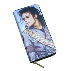 Mujeres Carteras Lady Handbags Zipper Monedero Monedero Tarjetas Soporte Michael Jackson Bolsas de dinero Embrague Mujer Zipper Monederos Billetera de bolsillo