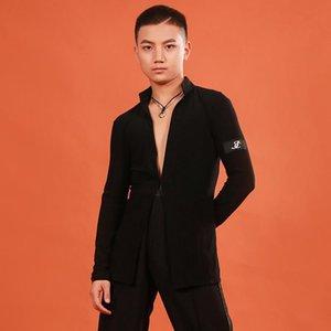 مرحلة ارتداء الذكور القمصان الرقص اللاتينية الرجال معطف الكبار ممارسة الملابس تشا رومبا سامبا تانجو الصلصا أداء الرقص DNV12508
