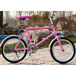 carbon steel material 20 inch Double disc Cycling retro casual bike1
