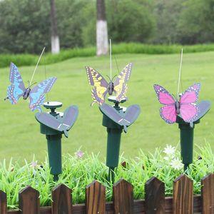 Danse de l'énergie solaire volant Papillons Belle créative Fluttering Vibration Fly Colibri Flying Birds Jardin Jardin Décoration VT1755