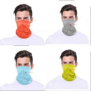 Neck Gaiter fibre de polyester écharpe magique mode visage Masques bouche avec filtre Sport extérieur adulte Recyclable Solide Couleur Lavable 6 3XS F2