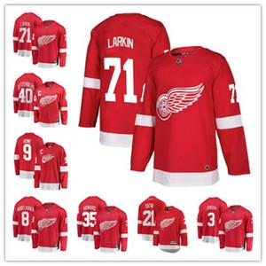Detroit Dylan Larkin Gordie Howe Henrik Zetterberg Justin Abdelkader Red Wings Fanatics Markalı Kopan Ev hokey Jersey