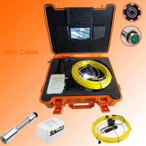 23MM Lens 20M Cable Pipe Inspection Camera HD 720P 7Inch LCD Drain Sewer Plumbing Endoscope Equipment