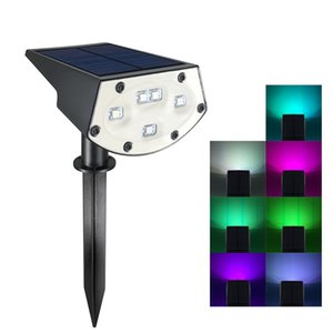 Güneş Lambası Su Geçirmez IP65 RGB Renk Degrade Açık Peyzaj Bahçe Duvar Peyzaj Lambası için Kullanılan