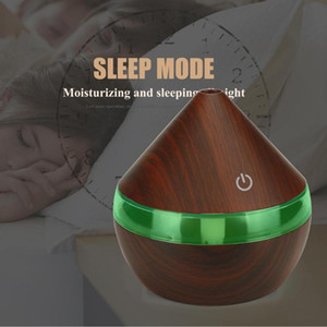 Electric Humidifier USB Rechargeable Essential Aroma Oil Diffuser Ultrasonic Wood Grain Air Humidifier USB Mini Mist Maker