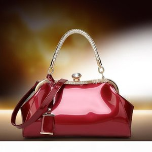 fashion patent leather hand-held women's bag, one shoulder diagonal bride bag dinner, women's bag wedding bag