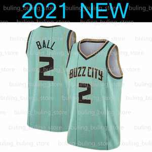 Ламело 2 шариковых шертерных трикотажных изделий Гордон 20 Hayward Charlotte orleans orleans Zion Lonzo Williamson Ball Mint Green City 2021 New Pelicans Баскетбол
