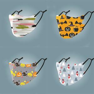 Visage MaskPrinted Ice Silk AdultsFashion Masques extérieur anti-poussière lavable bouche masque couverture # 143