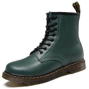 Renkli inek derisi Martins renk erkek bot bağcıklı kadın patik moda yuvarlak ayak muharebe ayakkabı zyan1 solma