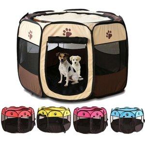 휴대용 야외 kennels 큰 작은 개에 대 한 애완 동물 텐트 하우스 접이식 실내 playpen 강아지 고양이 PET 케이지 배달 방 LJ201028