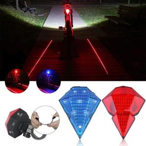 Diamond bicycle laser light, USB warning light, rear light, warning light