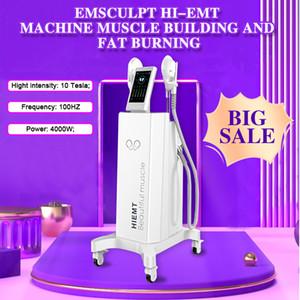 2020 Последний EMSLIM Hi-EMT Machine EMS Электромагнитная мышца Стимуляция жира сжигание Формирование Hiemt EMS-Chulpting Beauty Support
