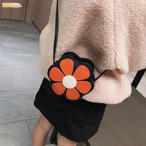 Crossbody Single Shoulder Bag Flower Shape Coin Cash Bag With Strap Floral For Girls Opk