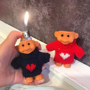 Fai da te in gomma Doll Accendino per Clipper Accendino Bic sveglio divertente Trolldroll Armatura Shell Accendino copertura di protezione di San Valentino regalo di Natale