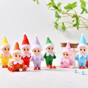 Envío gratis 10 PCS / LOT PCS Baby Elf Muñecas con los pies Zapatos Dibujo de elfo con los brazos y piernas Movables Navidad Baby Baby Doll