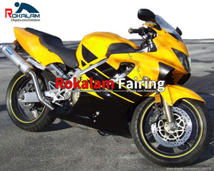 ABS Plastic Fairings For Honda CBR600RR F4 99 00 CBR600 1999 2000 F4 Yellow Black Road Motorcycle Fairing Body (Injection Molding)