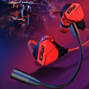G10-A Wired Earphones with Pluggable Detachable Double Microphones Earbuds for Gaming Sports Music Earpieces with HIFI Sound