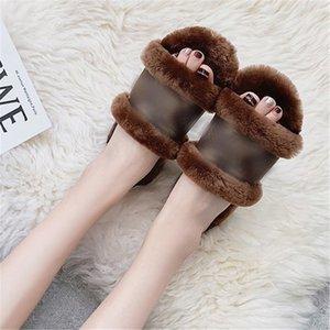 Golaiman 2020 Design Chinelos Home WomenCotton Chinelos de Grésos Bottom Não-Slip Indoor Quente Soft Shoes # 642