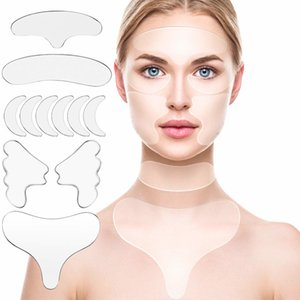 16pcs / 11 stücke Wiederverwendbare dünne Gesichtsaufkleber Gesichtszeile Falten Setzung Haut Heben Sie aufheben Tape Running Lächeln Linien Stirn Anti-Falten-Patch