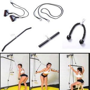 Fitness-Fitness-Zubehör-Kabel LAT-Ziehen Maschinenausrüstung Arm Bizeps Trizeps Blaster Griff Gewichtheben Workout Bar Seil