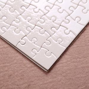 التسامي لغز a5 حجم diy التسامي الألغاز فارغة لغز الأبيض بانوراما 80 قطع حرارة الطباعة نقل اليدوية هدية YFA2694