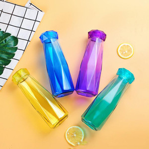 19oz Crystal Glass Water Bottle Fashion Travel Mug Sport Water Bottle Camping Hiking Kettle Drink Cup New Diamond Tumbler Gift DHD2607