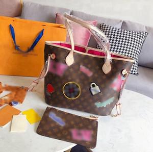 원래 가죽 핸드백 패션 럭셔리 명품 핸드백 지갑 크로스 바디 토트 백 어깨 가방 -L2841