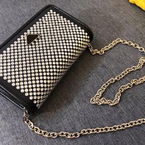 son moda ünlü tasarımcı omuz çantası tam elmas uzun omuz askısı zincir çapraz çanta kristal elmas en kaliteli 1BP018