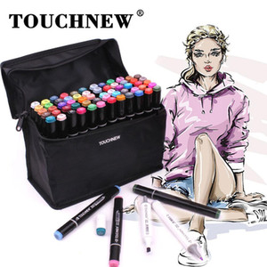 TouchNew Marker Pens 60 Colors Graphic Animation Design per Artists Sketch Markers 201120
