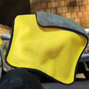 Top Car wasTowel cura lucidatura Wash soffici asciugamani in microfibra lavaggio tovagliolo di secchezza forte spessore peluche della fibra di poliestere panno di pulizia Car 4.7