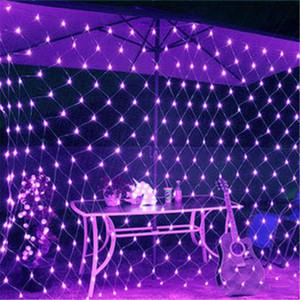 New 8m * 10m 6M * 4M 3M * 2M 1,5M * 1.5M de DEL Net lumières au plafond fête de Noël mariage en plein air lampes de décoration