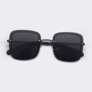 Mode-Marken-Entwerfer-Qualitäts-Quadrat Rund Sonnenbrille 2019 Damen-Legierung Rahmen Kette Sun Glasses Uv400