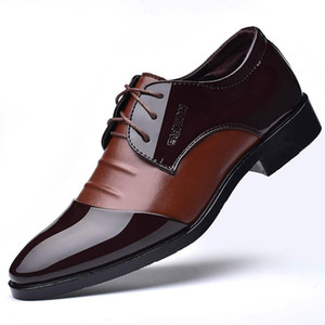 Mazefeng 2020 Spring Men Leather Shoes British style Business Men Dress Shoes Breathable Male Formal Lace-up Round Toe