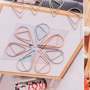 1 set = 10 pezzi di plastica di plastica forma di carta clip in oro argento colore divertente kawaii bookmark office shool cancelleria marcatura clip fwf2828