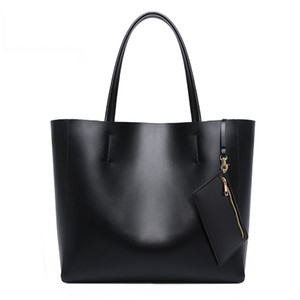 Guangzhou Factory Borsa da donna Borsa Borse Borse 2021 Fashion Genuine Real Leather Big Shopping Tote Bag Ladies Borsa composita grande capacità