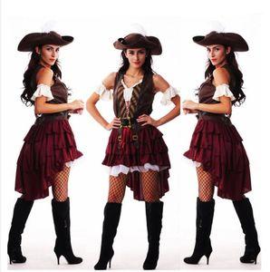 Аксессуары костюмов Сексуальная Хэллоуин Капитан Джек Воробья Косплей Пиратские Костюмы для Женщин Женский Взрослый Платье Hat1