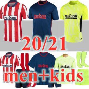 Uomini + Bambini 20 21 Nuovo # 7 João Félix Soccer Jerseys 2020 2021 Suárez Atletico Koke Madrid Saúl Correa Thomas Lemar Camicie da calcio Camiseta