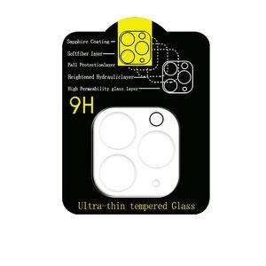 Cámara de la película de cristal templado de la cubierta completa para el iPhone 12 pro max 11 Pro cámara ultra Pantalla Samsung S20 Max protector de la lente sin paquete al por menor