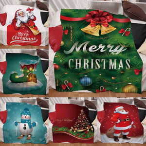 Christmas Series Blanket Digital Printing Winter Thickening Double Layer Fashion Woollen throw blankets Multicolor Multi Pattern Arrival