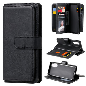 Newest Hot 10 Card Slots Flip Stand Cover PU Leather Wallet Phone Case For iPhone 12 Samsung Galaxy S20 Ultra Plus Note 20 ultra A51 A71 M31