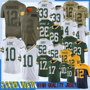 12 Aaron Rodgers 10 Love 2020 New Football Jersey 26 Darnell Savage JR 52 Rashan Gary 17 Davante Adams 69 Bakhtiari 23 Alexandre 15 Starr