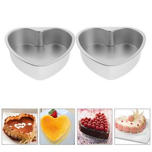 2x Nonstick Springform торт Олово Removable Bottom Сердце торт прессформы выпекание