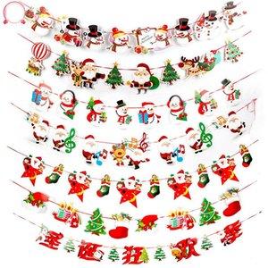 10PCS / Set Natal da bandeira do Feliz Natal Banners feltro Bandeiras penduradas Guirlandas para o partido Decoração Home Decor (aleatório)