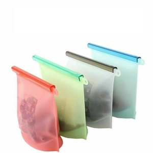 1000ml reutilizável Silicone Conservação de Alimentos Bag Frigorífico Food Storage Container Congelamento Aquecimento Para Kitchen Fresh Food Bag DWF1243