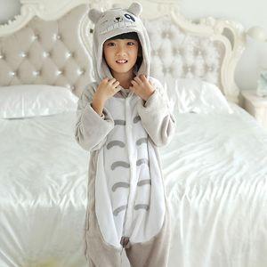 Kigurumi Children Cartoon cat Pajamas Girls Boys Kids Costume Sleepwear Jumpsuit Children's Anime Onesie Animal4 6 8 10 12 Year 200928