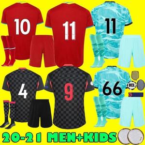 الرجال الاطفال 2020 2021 أحمر أسود أخضر لكرة القدم بالقميص الكبار 20 21 المنزل بعيدا الثالثة قمصان كرة القدم 3RD
