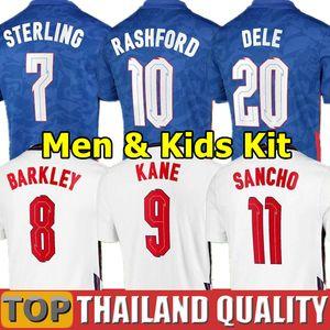 2020 DELE ALLI Angleterre ENGLAND maillots de foot KANE RASHFORD VARDY LINGARD STERLING STURRIDGE équipe nationale maillot de football 2021 Adulte Hommes kit enfants uniforme